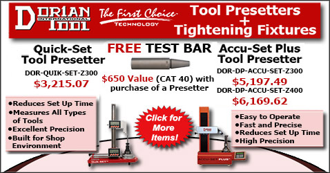 Dorian Tool Presetters and Tightening Fixtures
