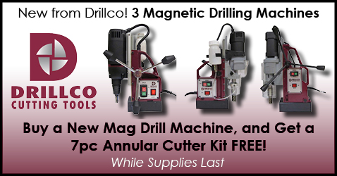 New from Drillco! 3 Magnetic Drilling Machines