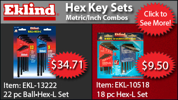 Eklind Hex Key Sets