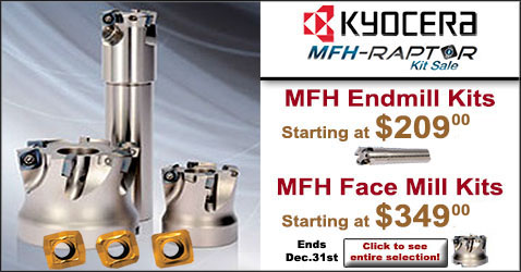 Kyocera High Speed Milling Cutter Kits SALE!