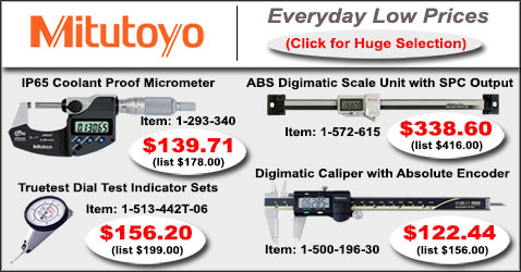 Mitutoyo Precision Tools and Instruments - Check Our Low Prices!