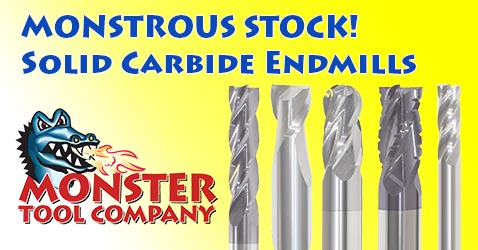 Solid Carbide Endmills in Stock