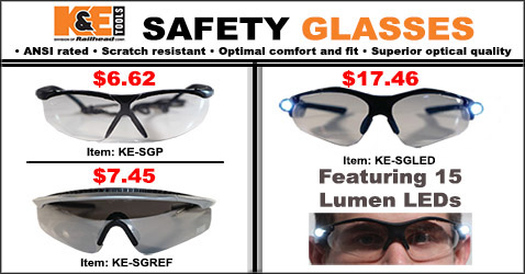 K and E Tools Safety Glasses