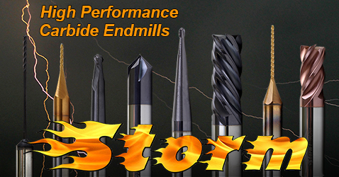 Storm High Performance Carbide Endmills