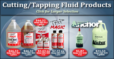 Cutting and Tapping Fluid Products from Tap Magic and Anchor!