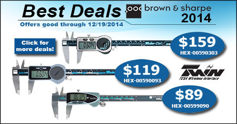 Brown and Sharpe Best Deals for 2014